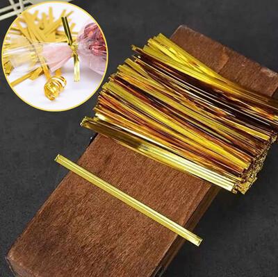 800lü Metalize Poşet Kapatıcı Tel Gold - Thumbnail