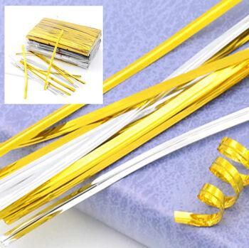 800lü Metalize Poşet Kapatıcı Tel Gold