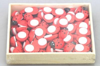 Diğer - 80li Ahşap Uğur Böceği Süsü Kırmızı