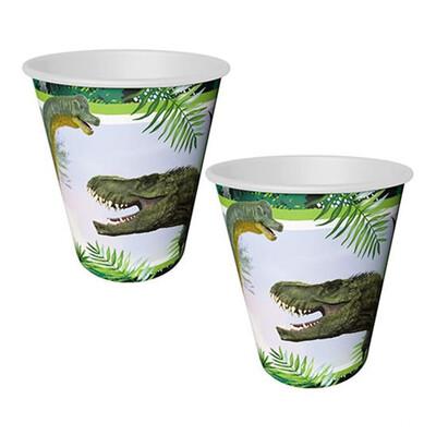 Diğer - 8li Jurrasic Dinozor Tek Kullanımlık Konsept Parti Bardağı
