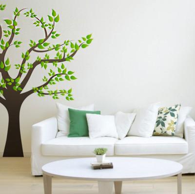 Diğer - Ağaç ve Yapraklar Duvar Sticker 50cm