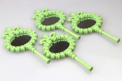 Diğer - Ahşap Oymalı Hediyelik Mini Süs Aynası 25li Yeşil