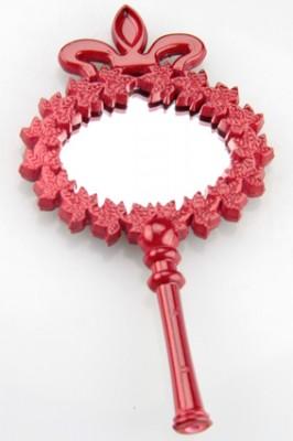 Diğer - Ahşap Oymalı Hediyelik Mini Süs Aynası 25li Kırmızı