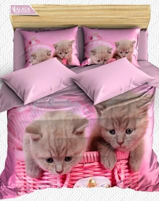 Alaca - Alaca Kedicikler 3D Nevresim Takımı Çift Kişilik