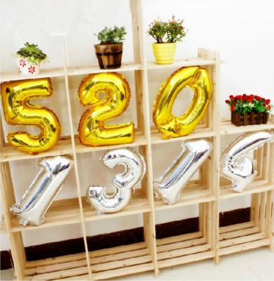 Diğer - Altın Renkli Mini Folyo Balon Rakamlar 40cm