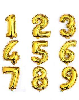 Altın Renkli Sayı Rakam Folyo Balonlar