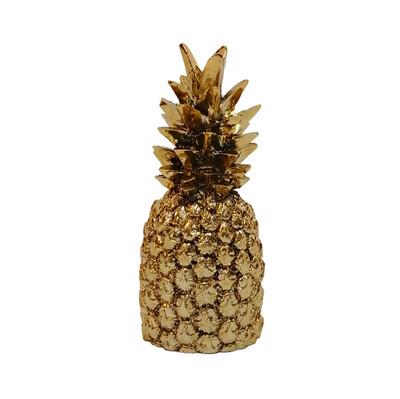 Diğer - Ananas Kaplama Dekoratif Biblo 18cm Gold