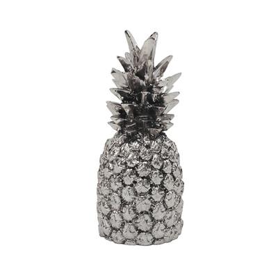 Diğer - Ananas Kaplama Dekoratif Biblo 18cm Gümüş