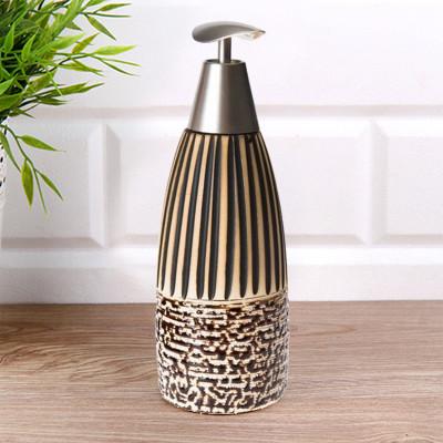 Diğer - Antik Tasarım Kahverengi Seramik Sıvı Sabunluk