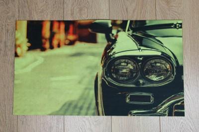 Diğer - Araba Fotoğraflı Kapı Önü Dikdörtgen Paspas 70x39cm