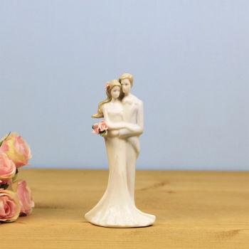 Aşık Çift Çiçekli Porselen Biblo 16cm