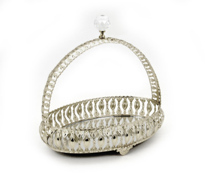 Diğer - Askılı Aynalı Jardinyer Şekerlik Gümüş 24cm