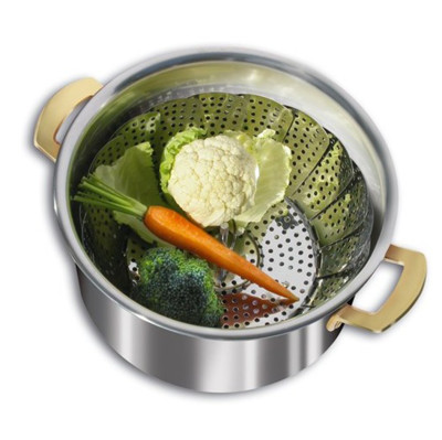 Ayarlanabilir Pratik Buharda Sebze Pişirme Süzgeci - Thumbnail