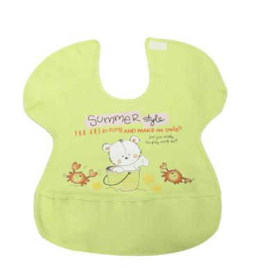 Diğer - Ayıcık Desenli Yengeç Model Muşamba Mama Önlüğü Yeşil
