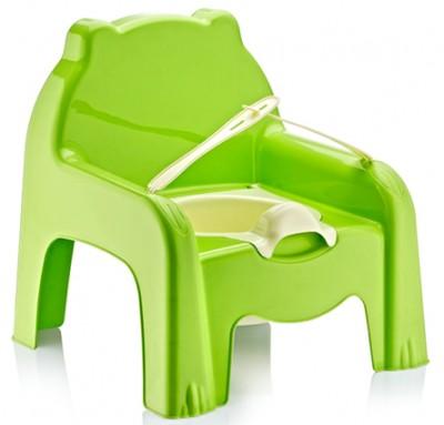 Diğer - Ayıcık Şeklinde Plastik Lazımlık Yeşil