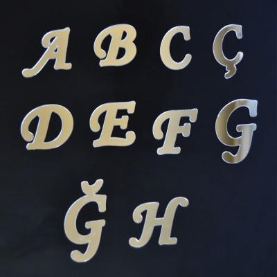 Diğer - Aynalı Harf Sticker Gümüş