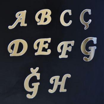 Aynalı Harf Sticker Gümüş