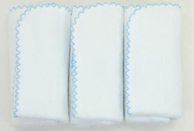 Diğer - Baby Center 3lü Klasik Örme Havlu ve Ter Bezi Mavi 24x24cm