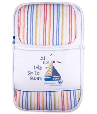 Diğer - Baby Center Yelken ve Çizgi Desenli Yastıklı Bebek Alt Açma Minderi