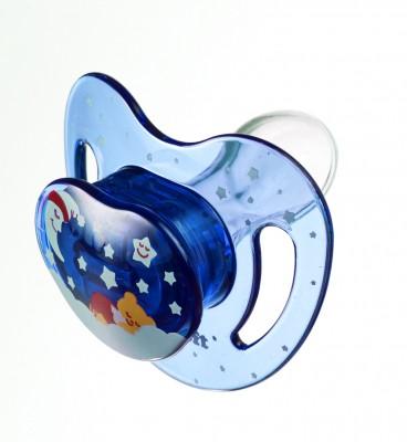 Baby Soft - Baby Soft Damaklı Uyku Emziği 0-6 Ay Mavi