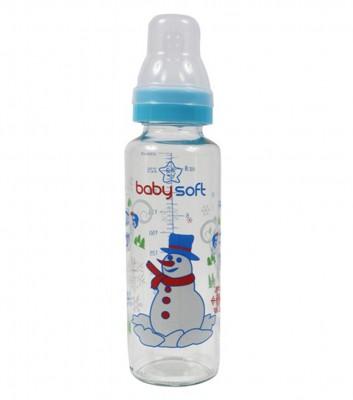 Baby Soft - Baby Soft Klasik Cam Biberon 250ml Mavi