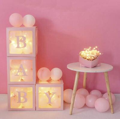 Diğer - Baby Yazılı Şeffaf Parti Süsleme Balon Kutusu Pembe 25cm