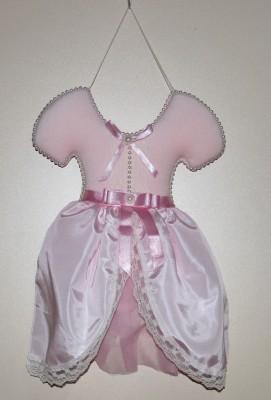 Diğer - Balerin Kıyafetli Kız Bebek Kapı Süsü Pembe