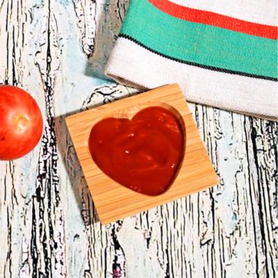 Diğer - Bambu Kalp Oymalı Mini Sosluk