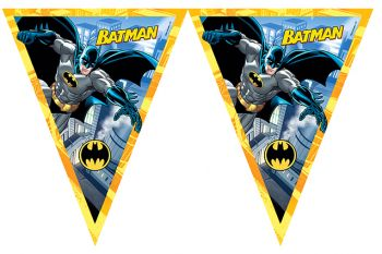 Batman Temalı Erkek Çocuklar İçin Flama Bayrak