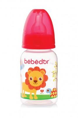 Diğer - Bebedor Desenli PP Biberon Yavaş Akış 125ml Kırmızı