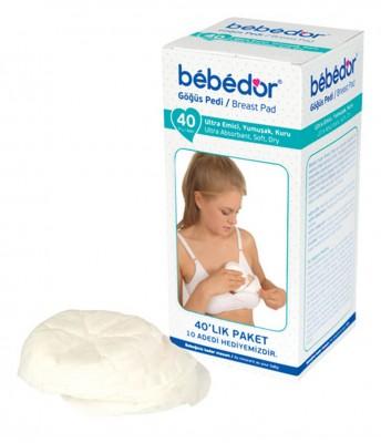 Bebedor - Bebedor Hijyenik Göğüs Pedi 40 Adet