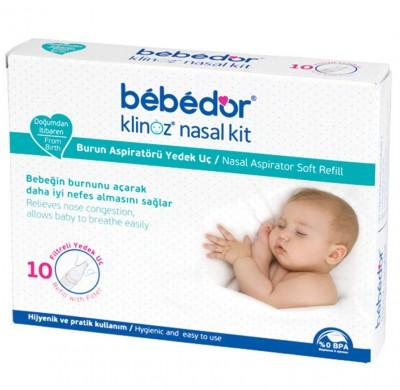 Bebedor - Bebedor Klinoz Burun Aspiratörü Yedek Uç 10lu