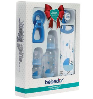 Bebedor - Bebedor Yenidoğan Hediye Seti 5 Parça Mavi