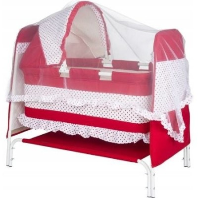 Diğer - Bebeloy Lüx Portatif Tenteli Beşik Kırmızı
