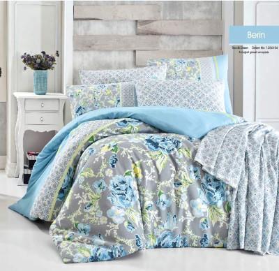 Diğer - Berin Poly Cotton Çift Kişilik Nevresim Takımı Mavi