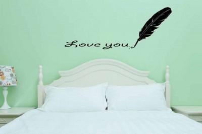 Diğer - Besta Kuştüyü ve Seni Seviyorum Yazısı Duvar Sticker