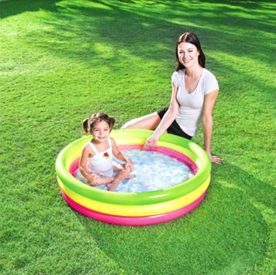 Bestway - Bestway Rengarenk Mini Şişme Yüzme Havuzu 102cm