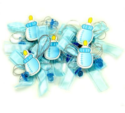 Diğer - Biberon Logolu Yapışkanlı Süsleme Malzemesi 12 Adet Mavi