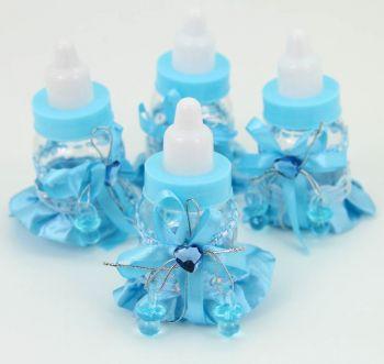 Biberon Şeklinde Bebek Şekeri Süsü 12 Adet Mavi