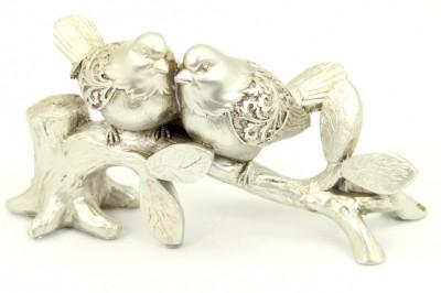 Diğer - Bir Dalda 2 Kuş Figürlü Biblo Gümüş