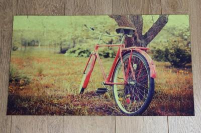 Diğer - Bisiklet Fotoğraflı Kapı Önü Dikdörtgen Paspas 70x39cm