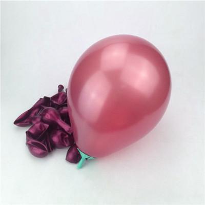 Diğer - Bordo Renkli Metalik Süsleme ve Parti Balonu 20li