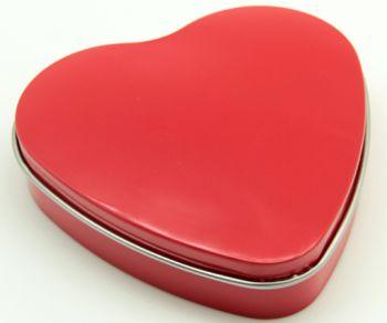 Bozkurt Kalp Şeklinde Metal Kutuda Mum Kırmızı