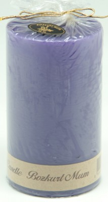 Bozkurt Mum - Bozkurt Silindir Şeklinde Mum Mor 7x12 cm
