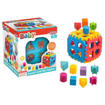 Diğer - Bul-Tak Puzzle Eğitici Bebek Oyuncağı 18 Parça