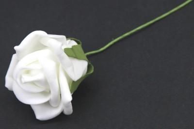 Diğer - Büyük Lateks Yapay Gül Beyaz 25 Adet