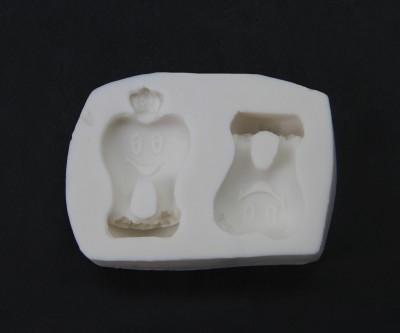 Diğer - Çiçekli Diş Şeklinde Kokulu Sabun ve Taş Kalıbı 7x4cm