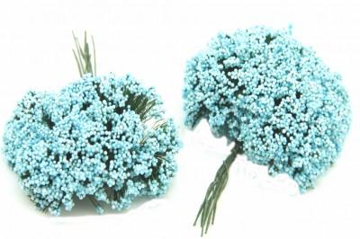 Diğer - Cipso Çiçek Bebek ve Nikah Şekeri Süsü Mavi