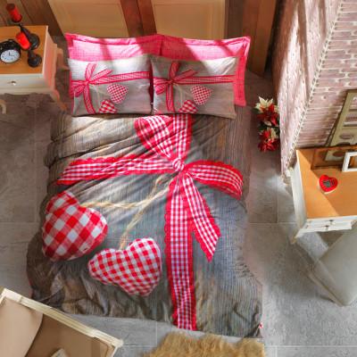Cotton Box - Cotton Box 3D Dijital Love Çift Kişilik Nevresim Takımı