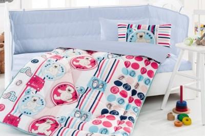 Cotton Box - Cotton Box Ayıcık Baskılı Yumoş Bebek Uyku Seti Bej